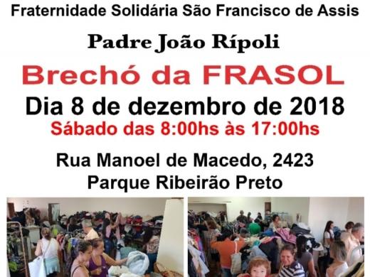 Brechó da FRASOL - Dia 8 de Dezembro de 2018