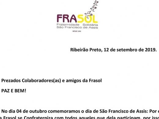 Convite: Comemoração dia de São Francisco de Assis
